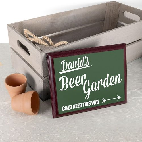 Personalised Beer This Way! Garden Plaque